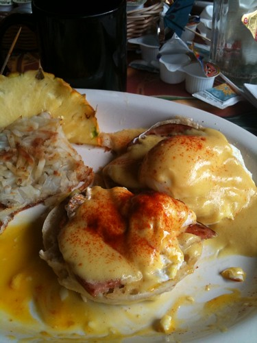 Eggs Benedict Cheeseburger Style