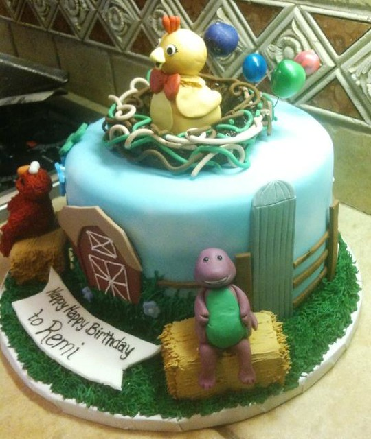 Chica Birthday Cake From The Sprout Show As A Topper For