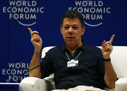 President Santos by World Economic Forum