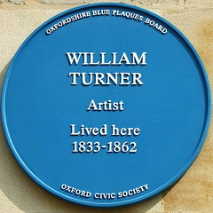 Photo of William Turner blue plaque