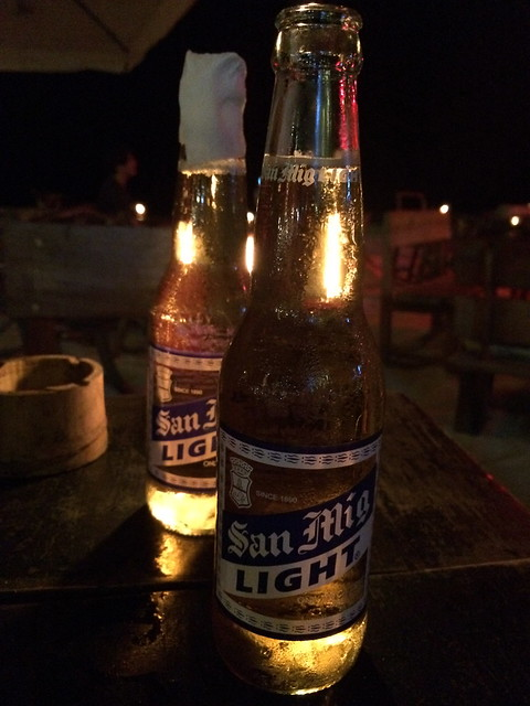 San Miguel light beer - Pat's Creek Bar