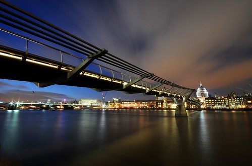 Millennium Bridge at Dusk - London