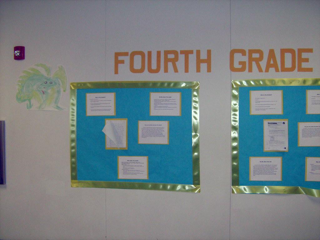 Fourth grade standard snapshot bulletin board 1