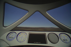 The interior of the NASTAR centrifuge simulates the visual experience as well as the physical. Credit Mark Greenberg