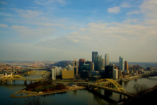 Pittsburgh view by CC user sakeeb on Flickr