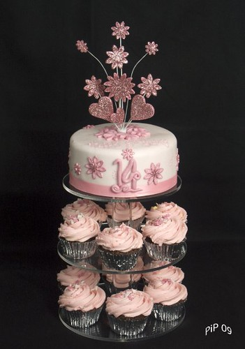 Very Pink 14th Birthday Cake And Tower