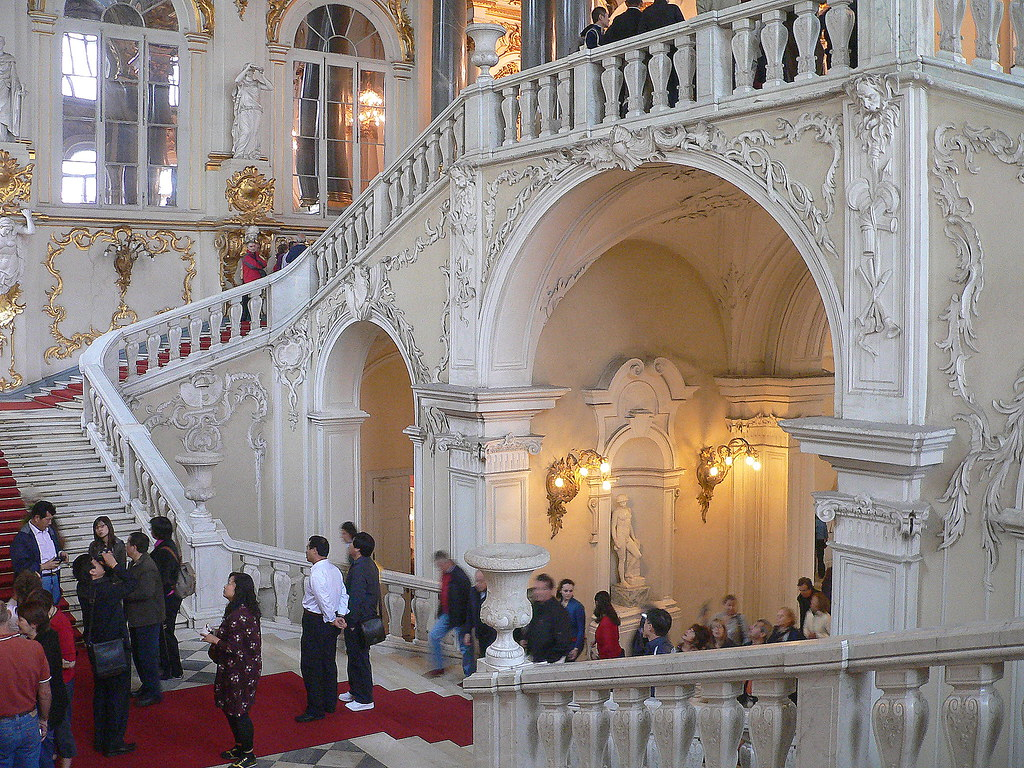 marble stairs in Winterpalace