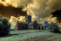 Infrared HDR St Mary's church Aldeby Norfolk