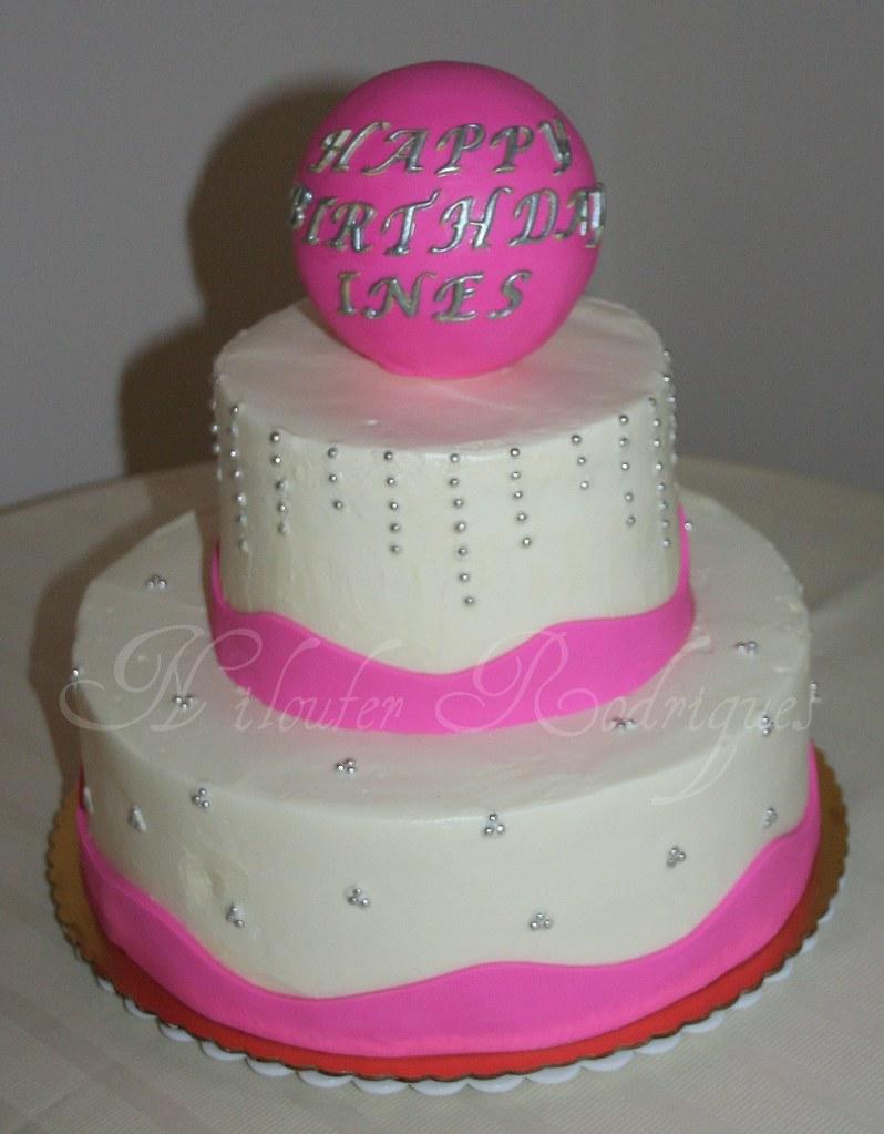 Pink Sparkly Cake