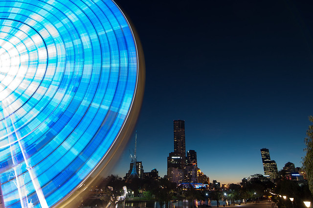 Blue Evening Ride