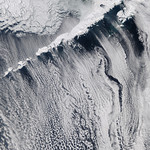 Clouds off the Aleutian Islands