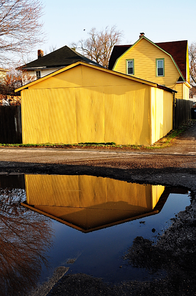 Yellow Garage Reflection