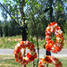 orange and navy wreaths