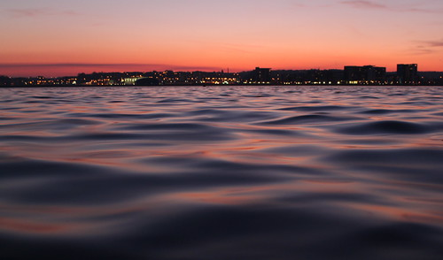 ocean uk pink lake motion reflection water wales landscape lights bay europe exposure waves slow waterfront bokeh cymru smooth cardiff wave nightime waters seafront tidal cardiffbay barrage silky orangeglow tigerbay cardiffbarrage anawesomeshot biglittlecity