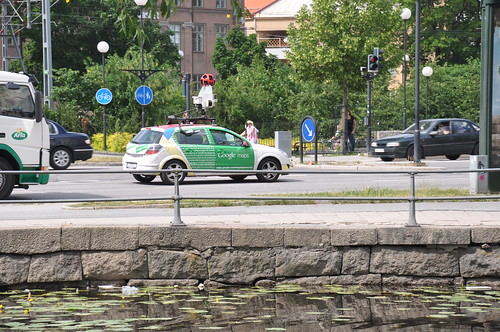Google car in Örebro, Sweden