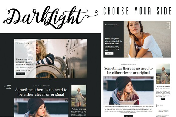 Darklight v1.0.0 - Minimalistic Theme for Writers, Bloggers, Photographers