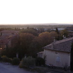 Dusk view from Sablet