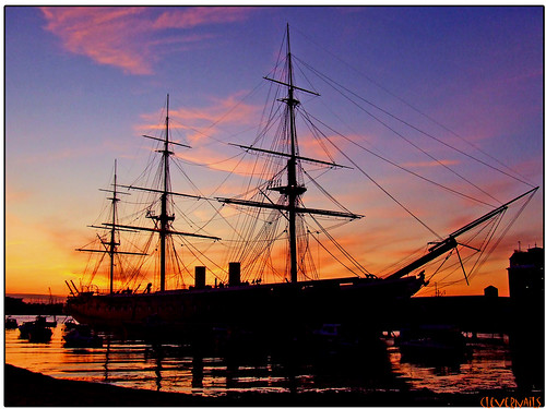 pink blue sunset sky orange reflection topf25 seaside dock explore portsmouth shroud warrior mast tallship supershot abigfave platinumphoto impressedbeauty wonderworldgallery flickrstruereflection1 flickrstruereflection2