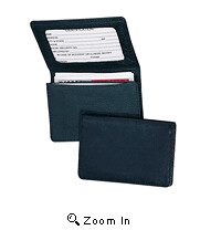 Leather Business Card Holder with ID Window