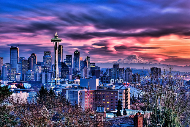 Blazing Seattle Sunset