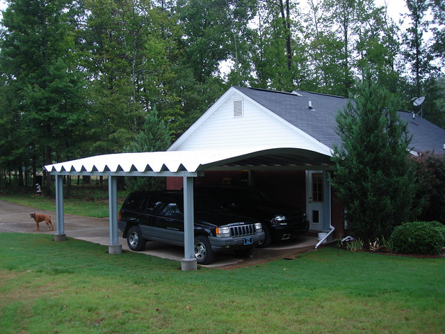 Metal Double Carport : Steelmaster metal double carport