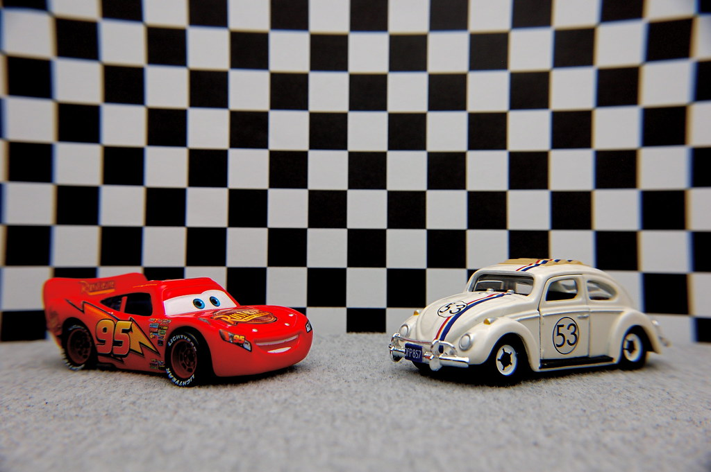 Lightning McQueen vs. Herbie (10/365)