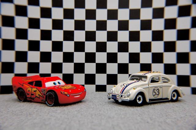 Lightning McQueen vs. Herbie (10/365) | Flickr - Photo ...