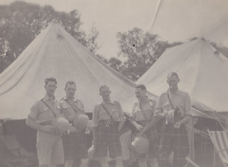 Some of the officers outside the mess tent
