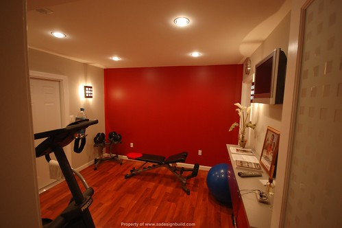 Home exercise room simple decoration