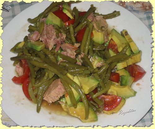 Rezeditas ensalada de judias verdes y atun - Ensalada de judias verdes arguinano ...