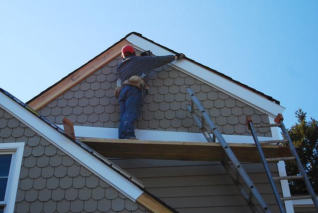 Install Fibre Cement Boards : Fiber cement board siding installation flickr photo