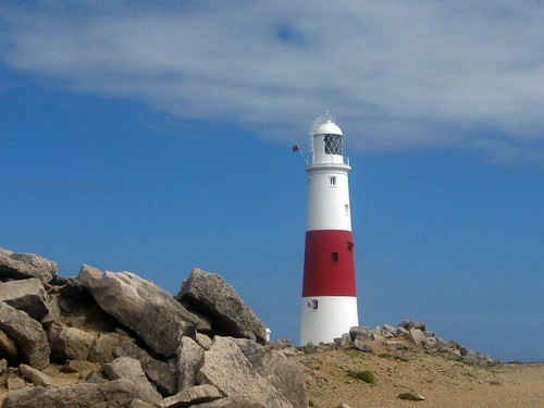 Portland Bill Lighthouse and Rocks