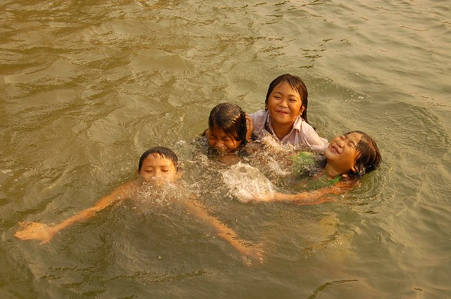 Children swimming in river in Vang Vieng | Flickr - Photo ...