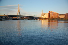 The Charles River from North Point Park looking toward the Zakim Bridge