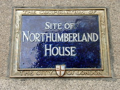 Photo of Northumberland House, Hugh Percy, and Elizabeth Percy blue plaque