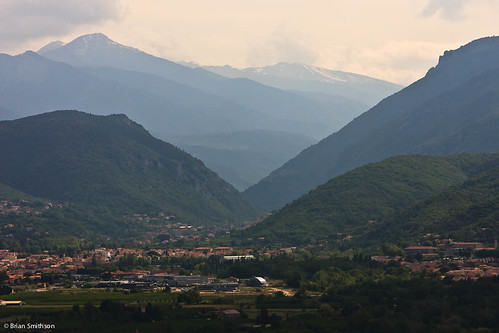mountains village valley pyrenees vinca eus