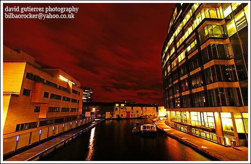 London in a Red Night Dress - Paddington Basin