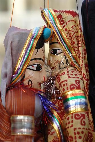 Marionetas Mandawa, La esencia rural de los Haveli - 4069664810 f6d64b32b4 - Mandawa, La esencia rural de los Haveli
