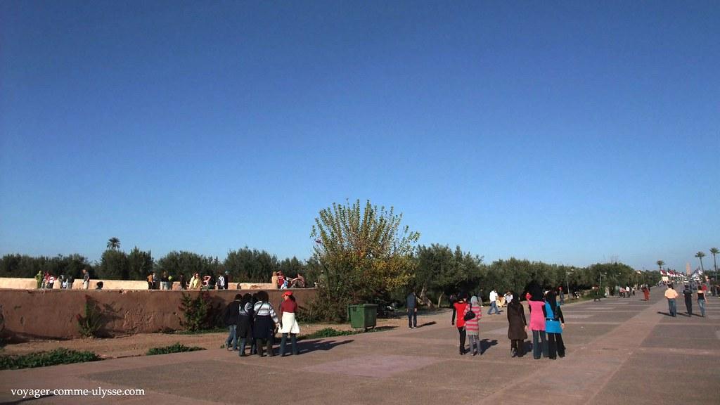 Les jardins de la Ménara sont un lieu de promenade très apprécié