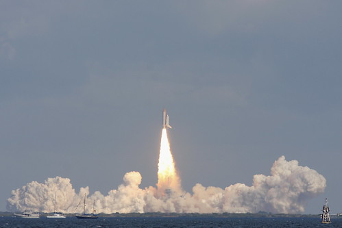 STS-129 clear of the tower