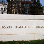 Folger Shakespeare Library Sign