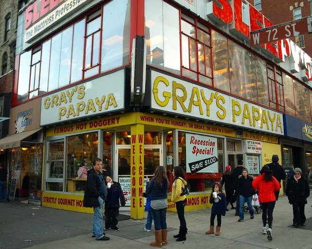 Gray's Papaya Hot Dog Restaurant, Lincoln Center, New York City ...