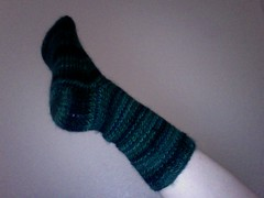 1 Forest Shadows Sock Finished