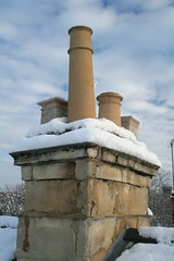 ancient history(0.0), temple(0.0), water(0.0), tower(0.0), column(0.0), snow(1.0), chimney(1.0),