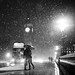 London When it Snows; Big Ben and Lovers by kayodeok