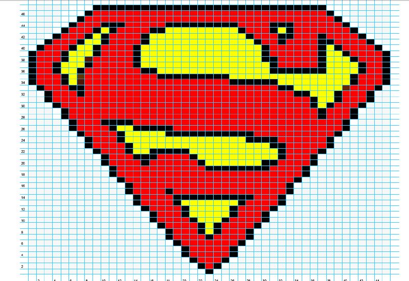 Logo Knitting Pattern : Ravelry superman logo chart pattern by elizabeth thomas