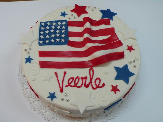American Flag Cake   Flickr - Photo Sharing!