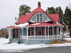 House with Red Roof--Chase City, Virginia