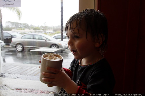we ducked out of the rainstorm and into java depot for some hot chocolate and espresso