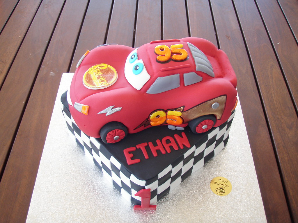 1st Birthday Cars Cake Design Kustura for